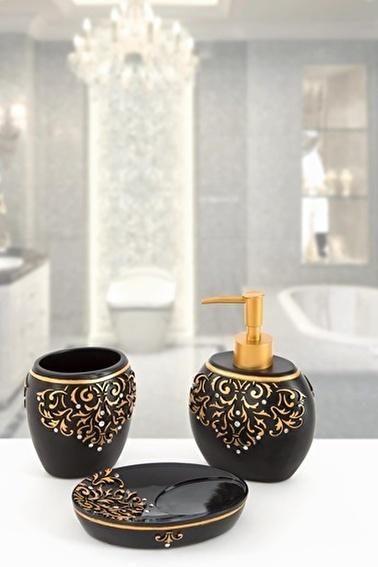 İrya Flossy Siyah 3 Parça Banyo Seti Renkli